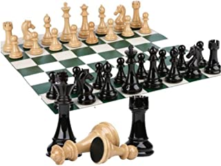 Chess Set Checkers Game Board - 2 In 1 Folding Magnetic Chess Game. Great Travel Chess Set Strategy Game Is 20 X 20, Inter...