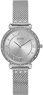 GUESS Women's 34mm Steel Bracelet & Case Quartz Silver-Tone Dial Watch W1289L1