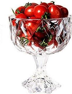 20.3 أوقية قدم من الزجاج الشفاف الحلوى السلطانيات/الكمال - مثالية للحلوى، Sundae، الآيس كريم، الفاكهة، سلطة، وجبة خفيفة، ك...