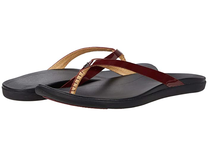 Ho'opio Leather  Shoes (Red Ginger/Black) Women's Sandals