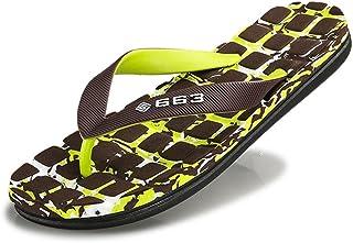 Men's Comfy Thong Classical Flip Flops Beach Sandals Slipper Go to work (Color : Green, Size : 41 EU)