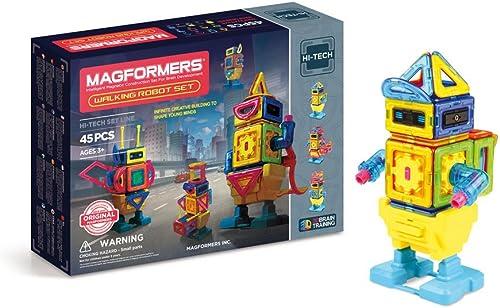 producto de calidad Magformers - Walking Robot, Set de 45 Piezas magnéticas magnéticas magnéticas (709004)  colores increíbles