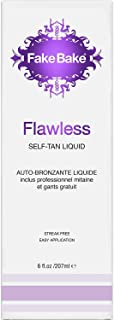 Fake Bake Flawless Self-Tanning Liquid Spray |Streak-Free Long-Lasting Sunless Natural Glow For All Skin Tones | Black Coconut Scent | Includes Professional Mitt To Ease Application| 6 oz (Pack of 2)