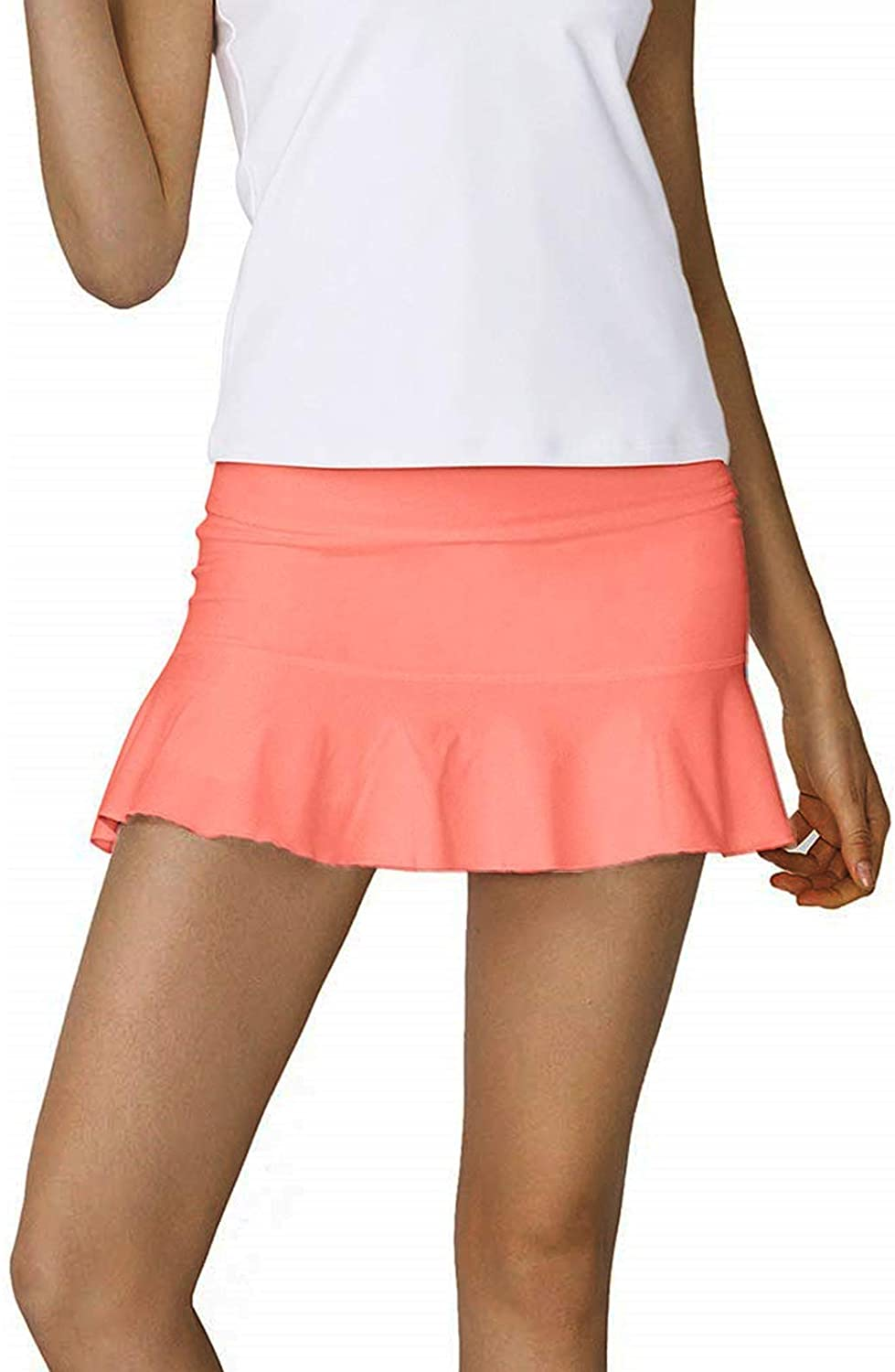 Rainbow Tree Tennis Skirts for Women,Athletic Golf Pleated Skirts with Shorts Indoor Exercise,Runs Large: Clothing