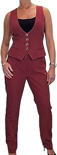 icecoolfashion Vestito delle Donne, Gilet E Pantaloni, Lavabile, Completamente Foderato 42-52