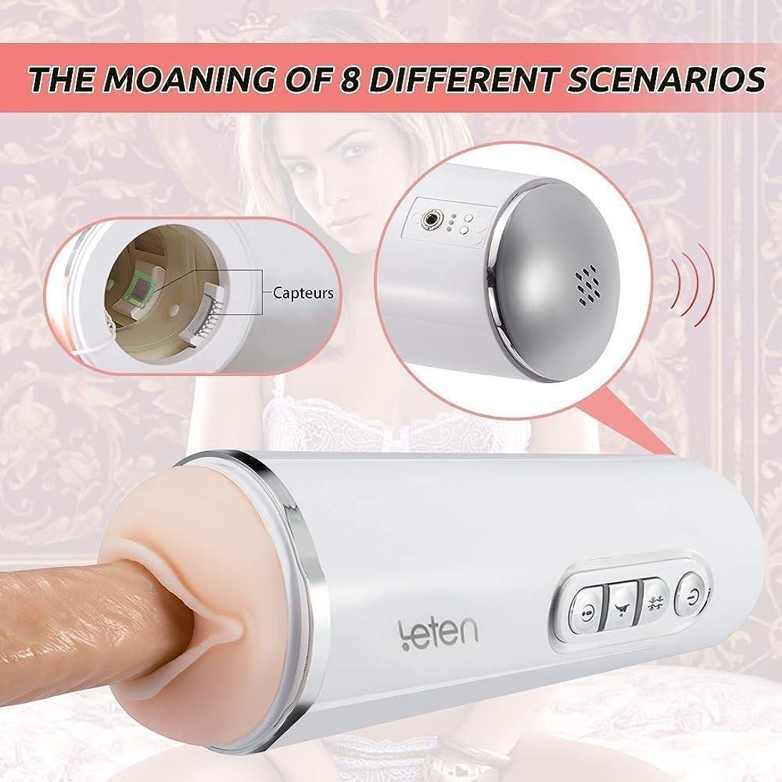 かみそりシールスプレーWJPCR 声の相互作用の男性の自動ピストンカップの吸引および暖房の電子マッサージのコップの男性のおもちゃ