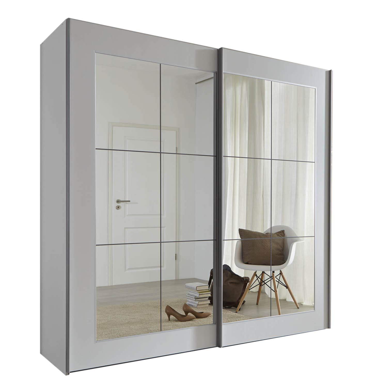 Schlafzimmer Lattice:Armario blanco con puerta corredera y espejo – 202 cm, 236 cm o 301 cm de ancho – Muebles de dormitorio fabricados en Alemania., Blanco, 236cm Wide: Amazon.es: Hogar
