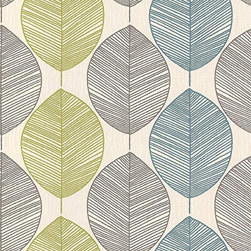 Arthouse 408207 Collection Option 1 Wallpaper, Teal/Green, 10.05 m x 0.53 m