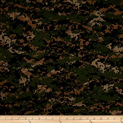 Carr Textile Organic Cotton Ripstop Woodland Camo Fabric By The Yard