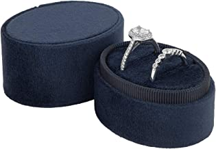 navy velvet ring box