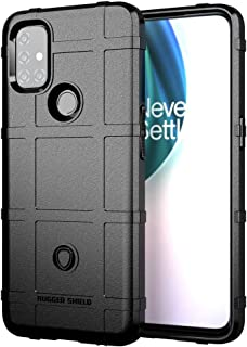 SDDLRM Cover Case for OnePlus Nord N10 5G, Shockproof Rugged Shield Armor Case, Soft Silicone TPU Bumper Case Protective B...