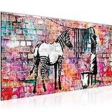Bilder Banksy Washing Zebra Wandbild 100 x 40 cm Vlies -
