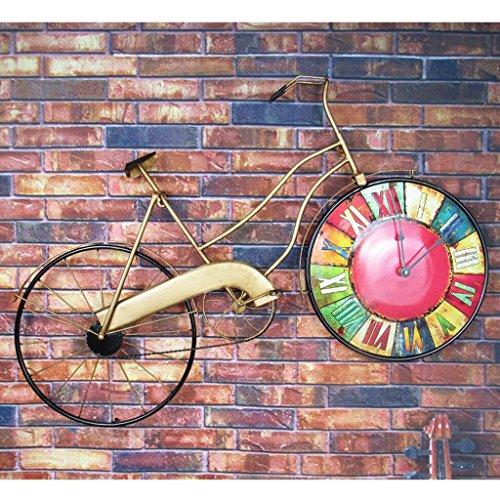 Wall Clock Retro Uhr Fahrrad Wand Taktgeber Bars Restaurant Strap Dekorative kreative Wand Handwerk Bügeleisen