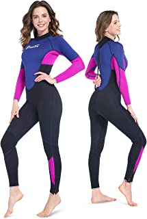 GoldFin Full Wetsuits 3mm Neoprene Wetsuit, Back Zip Long Sleeve for Diving Surfing Snorkeling-One Piece Wet Suit for Men ...