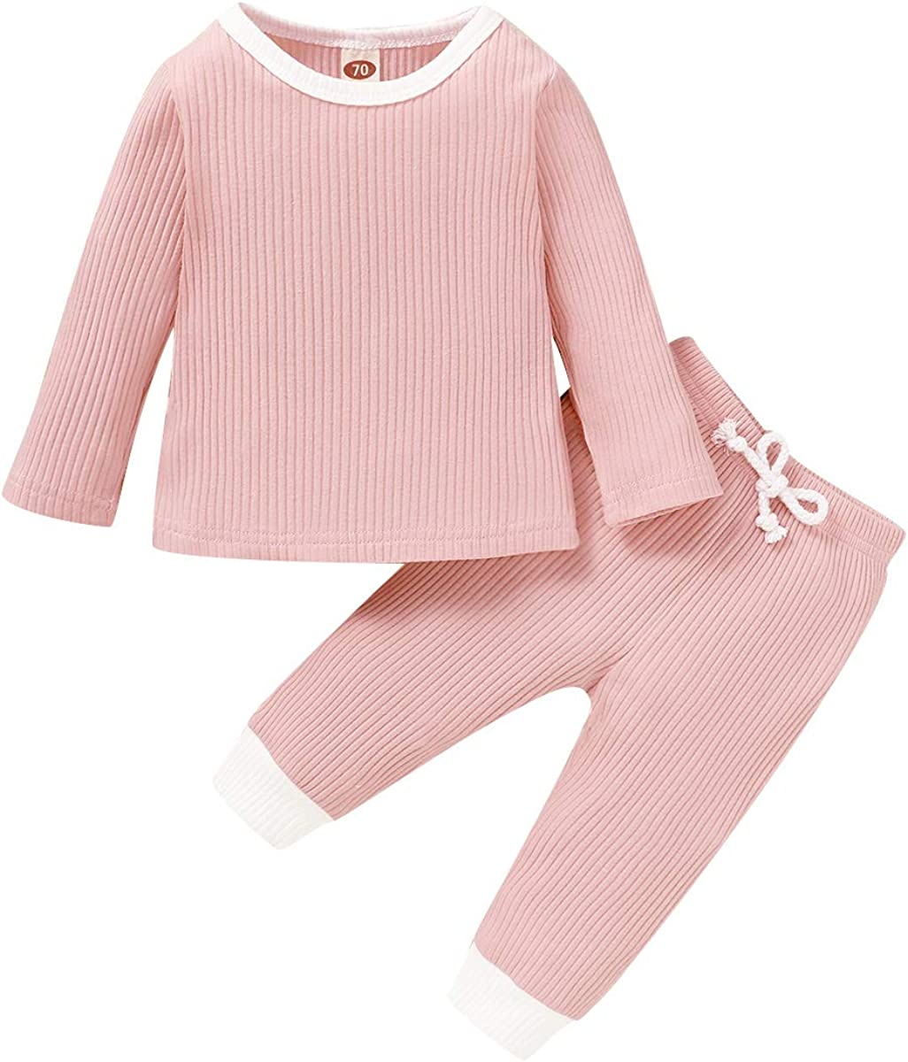 Baby Girls Clothes,Toddler Long Sleeve Sweatshirt Pullover Ruffle + Floral Pants