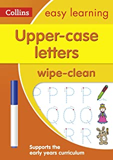 Upper Case Letters Age 3-5 Wipe Clean Activity Book: Ideal for Home Learning