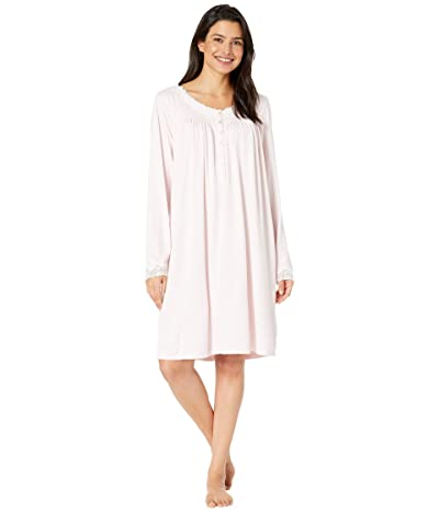 Eileen West Sweater Knit Short Nightgown (Rose) Women