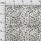 oneOone Viscose Jersey Stoff Leopard Tierhaut Stoff-Druck