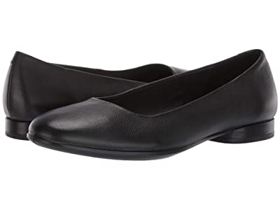 ECCO Anine Ballerina (Black Calf Leather) Women