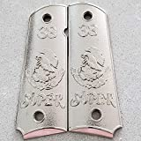Tek_Tactical Mexican Eagle 1911 Grips cachas 38 Super Pistol Grips Full Size 45 Commander Nickel