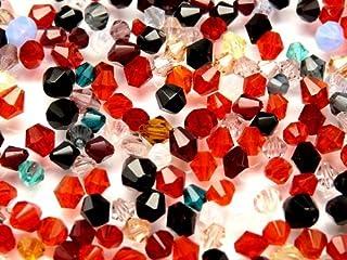 10gr Czech Fire Polished Beads, Bicone Mix Summer 3-8mm