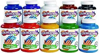 Colorations Washable Finger Paints, 16 oz. - Set of 10 (Item # CWFPS)