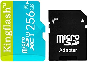 Kingflash 256GB Micro SD Card Class10 Rose Memory Card Flash Card Memory Microsd for Smartphone Tablet PC (256GB, Blue)
