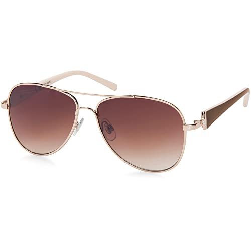 657b680d92fe01 styleBREAKER Élégantes lunettes pilote pour femme à verres teintés, lunettes  de soleil style aviateur avec