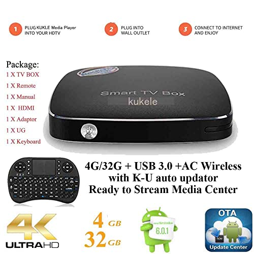 KUKELE Express 2018 Ultra HD Streaming Media Player | 4GB/32GB Pro Android TV Box