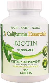 High Potency Biotin 10000mcg Tablets - Daily Healthy Hair Skin and Nails Vitamins; Vegetarian Biotin for Hair Growth – 300...
