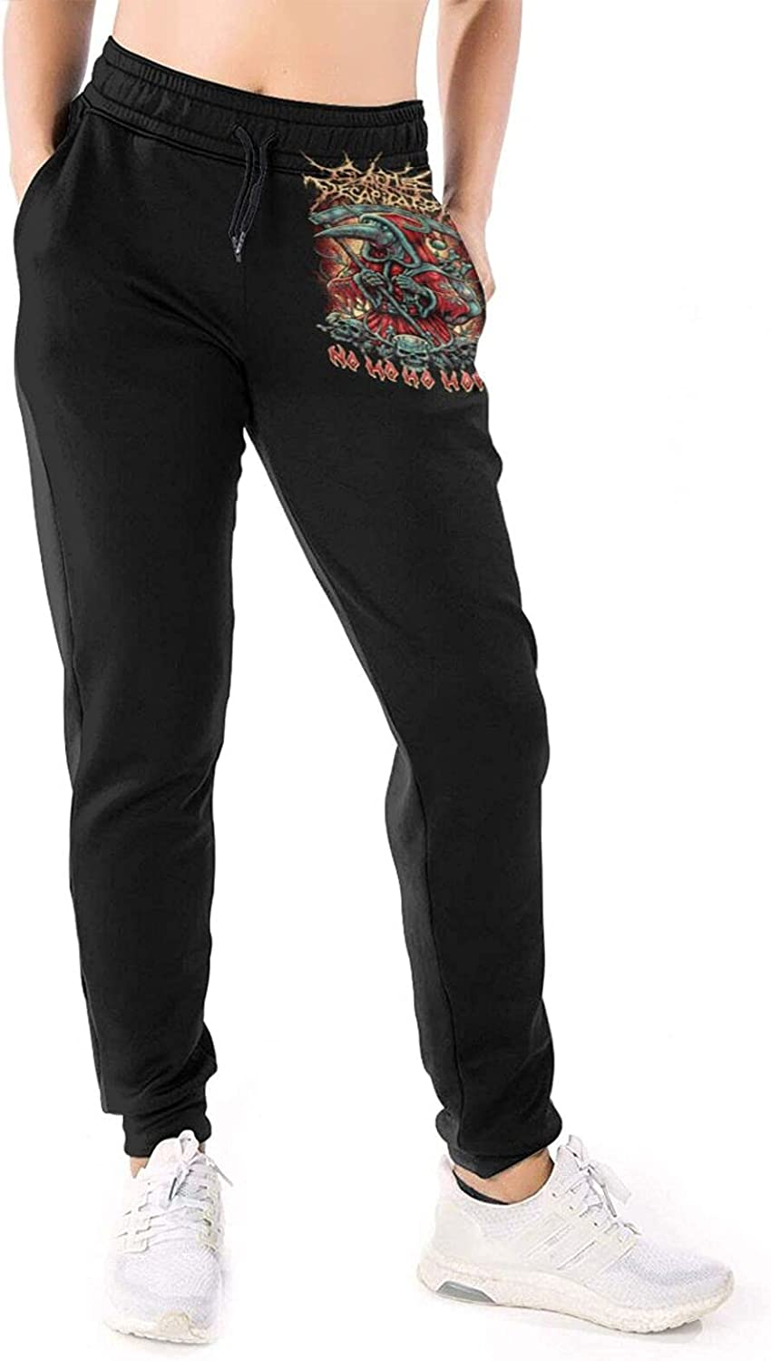 RDCLFJENQ Cattle Decapitation Pants for Women's Sport Pull On Dr