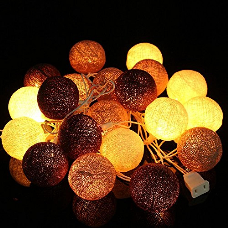 Mising Cotton Balls LED String Light 20 Led String Lights Party Patio Wedding Christmas Decor