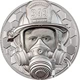 Power Coin Firefighter Real Heroes 1 Oz Moneda Platino 250$ Cook Islands 2021