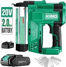 KIMO 20V 18 Gauge Cordless Brad Nailer/Stapler Kit, 2 in 1 Cordless Nail/Staple Gun..