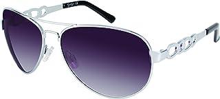 Jessica Simpson Women's J5399 SLV Aviator Sunglasses,...