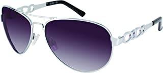 Women's J5399 Slv J5399 SLV Aviator Sunglasses, Silver, 56 mm