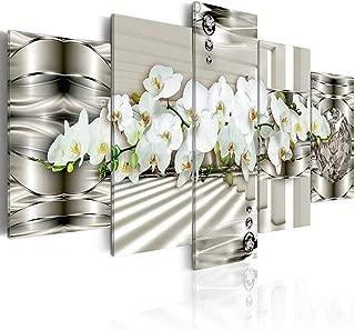 壁飾り 絵画 壁アート ハイ・デフィニションオーキッド抽象現代のホームデコレーションキャンバス水墨ウォールファイブ写真を絵画 (色 : C, サイズ : Size4)