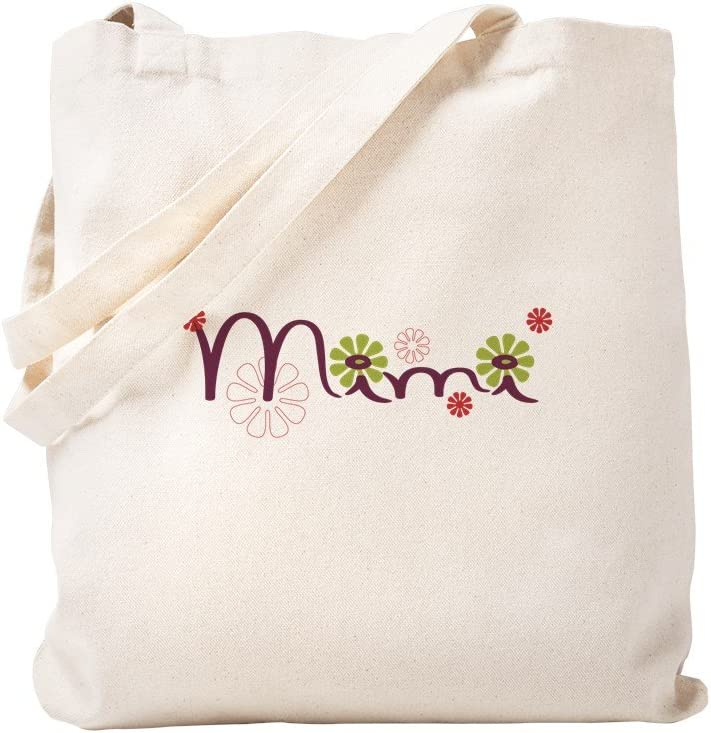 CafePress Mimi All items in the store With Safety and trust Flowers Tote Re Canvas Natural Bag