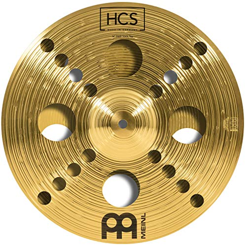 """Meinl 14"""" Trash Stack Cymbal Pair with Holes - HCS Traditional Finish Brass for Drum Set, Made In Germany, 2-YEAR WARRANTY (HCS14TRS)"""