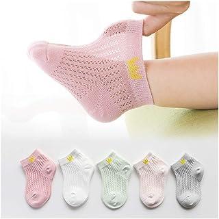 LiuQ, LiuQ Bebé Calcetines 5 Pares/Lote Calcetines Infantiles for niños de Verano de algodón Fina Historieta de la Manera Animales recién Nacidos del bebé Calcetines Niñas por 0~2 Año 2020