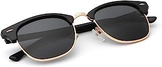 نظارة شمسية مستقطبة للرجال والنساء باطار شبه بدون اطار، تحجب الاشعة فوق البنفسجية بنسبة 100%