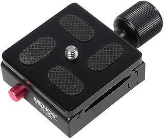 MENGS® CL 50A abrazadera ajustable + placa de liberación rápida compatible con cualquier equipo fotográfico conocer Akai tornillo estándar de 1/4 cámara de aluminio