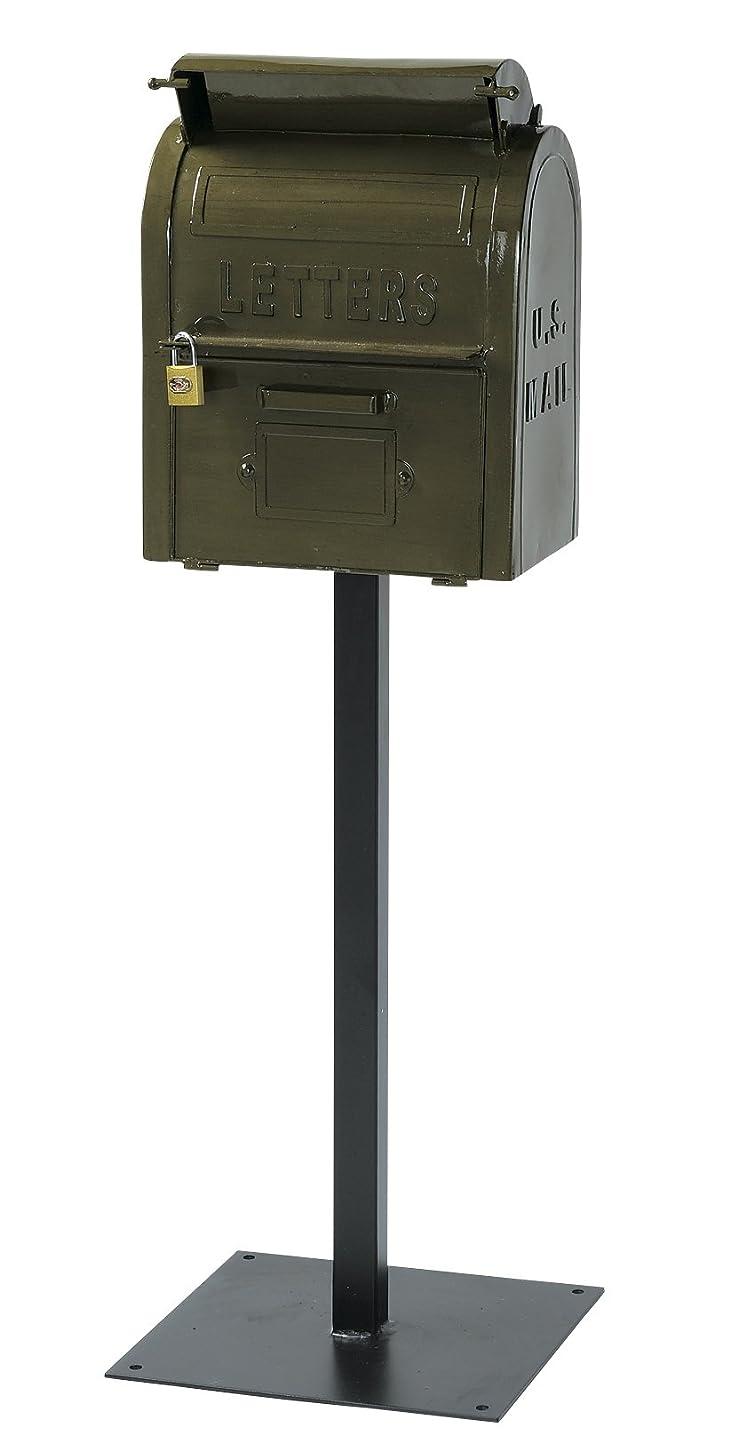 ビーチ側面地元セトラクト郵便ポストアメリカンヴィンテージ U.S.MAIL BOX(グリーン)SI-2855-GR