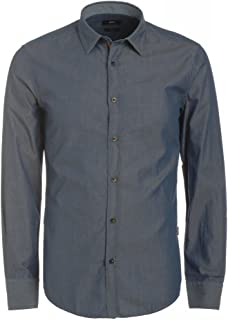97c68e763 Hugo Boss Black Shirt, Light Blue Slim Fit Chambray 'Ronny 36' Shirt Light