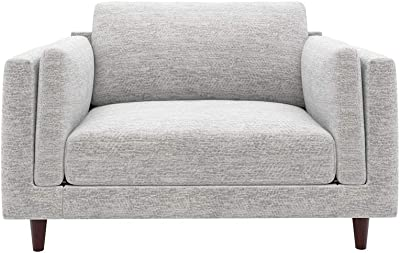 Sofab Wilder Chair-And-A-Half Upholstered Accent Seat, London Fog