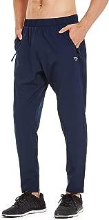 Baleaf Men's Woven Running Pants Tapered Lightweight Joggers Sun Protection UPF 50+ Zipper Pockets