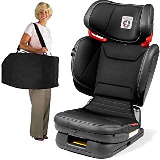 Peg Perego Carry Viaggio Flex 120 Child Booster Seat with Carrying Bag - Licorice