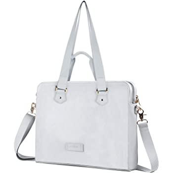 College Students Business People Office Wor Laptop Bag White Sheeps Flowers 15-15.4 Inch Laptop Case Briefcase Messenger Shoulder Bag for Men Women