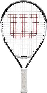 Wilson(ウイルソン) 硬式 テニスラケット [ガット張り上げ済] Jrモデル FEDERER 17~23 RKT HALF(ジュニア ラケットフェデラー ハーフ) ブラック/ホワイト