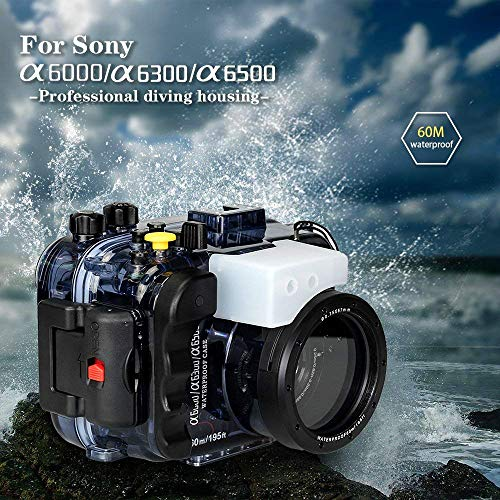 Seafrogs Photography Underwater 40m Camera Waterproof Housing for Sony A6000 A6300 A6400 A6500 Water Sport Case Viedography System Device Set